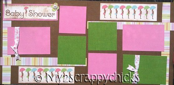 New  Baby Shower Girl - Page Kit