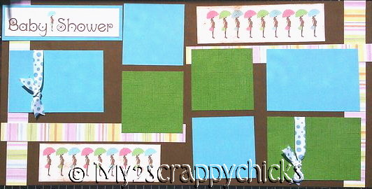 New  Baby Shower Boy  Page Kit
