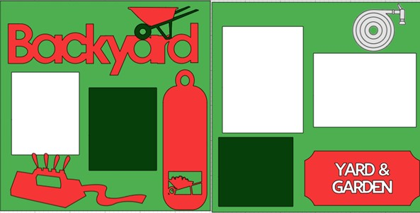 BACKYARD- YARD AND GARDEN  -  page kit