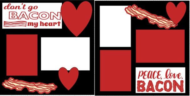 Don't go bacon my Heart  -  page kit