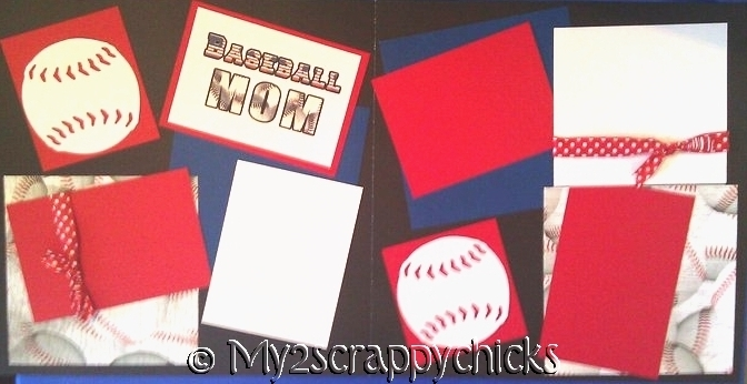 BASEBALL MOM   -basic page kit