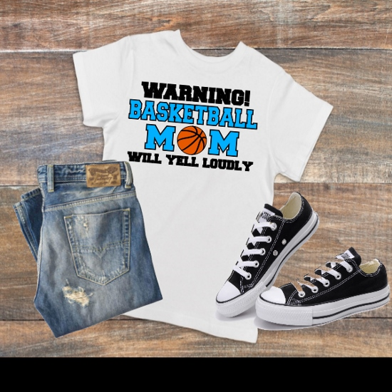 WARNING BASKETBALL MOM T-SHIRT
