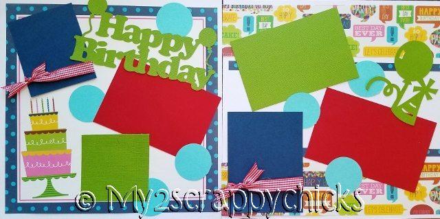 HAPPY BIRTHDAY DOTS  page kit