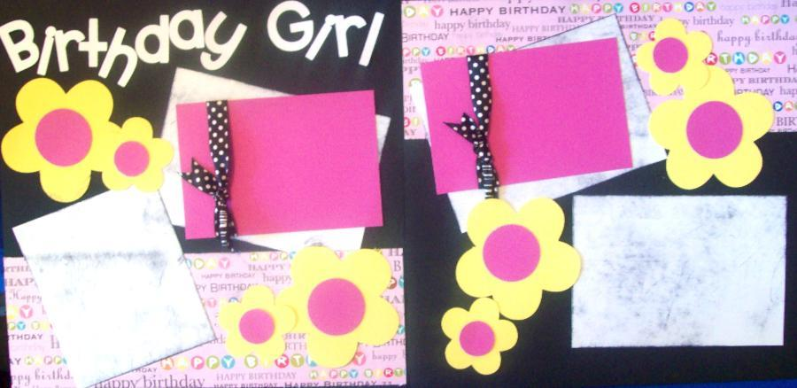 Birthday Girl pages   Page Kit