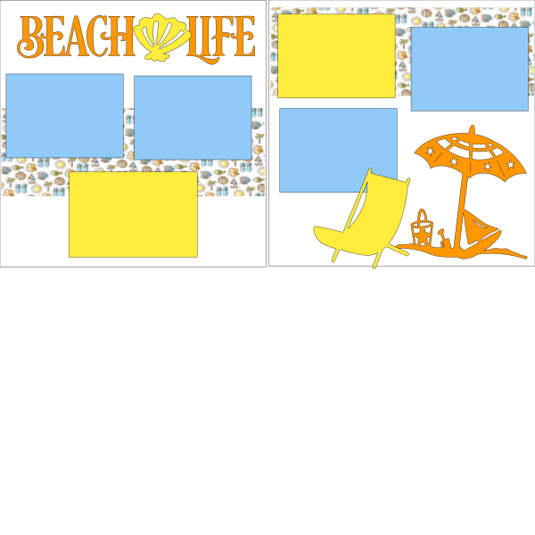 Beach * Life   -basic page kit