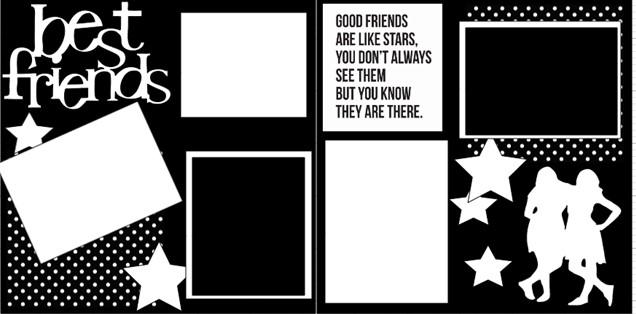 BEST FRIENDS (BFF)  page kit