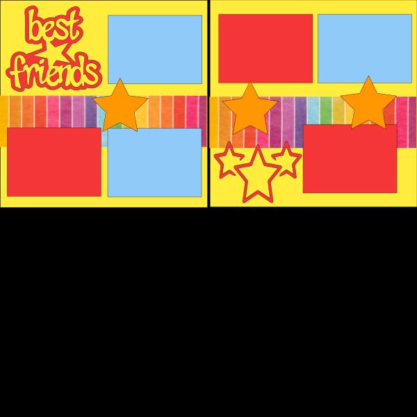 BEST FRIENDS (STAR)  -basic page kit