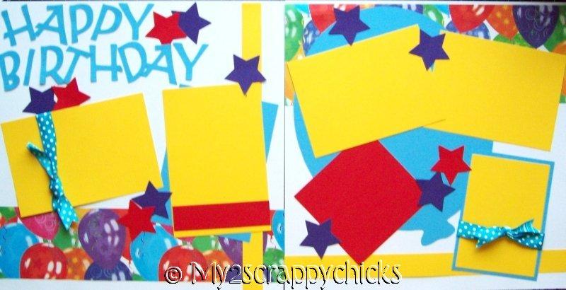 Happy Birthday (BIG BALLOON)  --   page kit