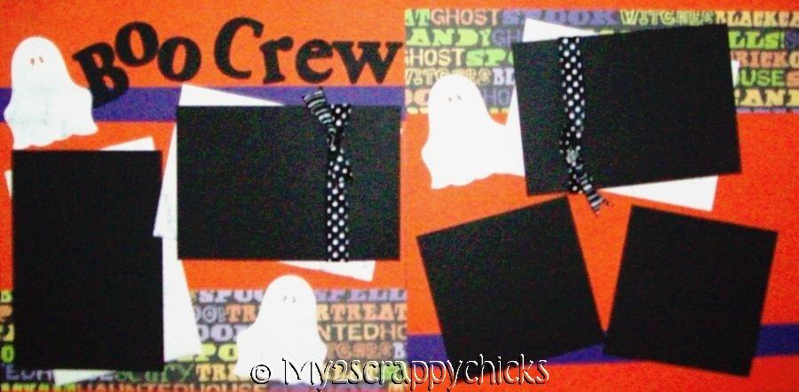 """BOO CREW"" HALLOWEEN   page kit"