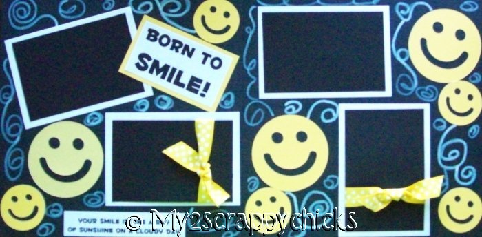 BORN TO SMILE NEW  BASIC Page Kit