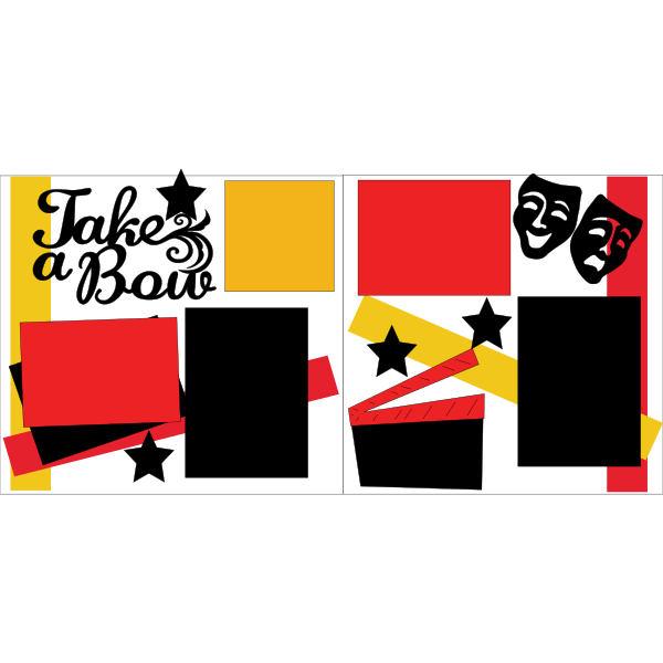 TAKE A BOW -THEATRE-SCHOOL PLAY  -basic page kit