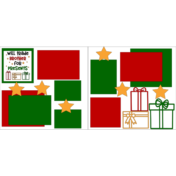 CHRISTMAS WILL TRADE BROTHER FOR PRESENTS  -basic page kit