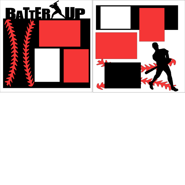 BASEBALL-*BATTER UP  -basic page kit
