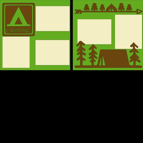 Camping--  page kit