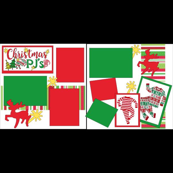 CHRISTMAS JAMMIES  -basic page kit