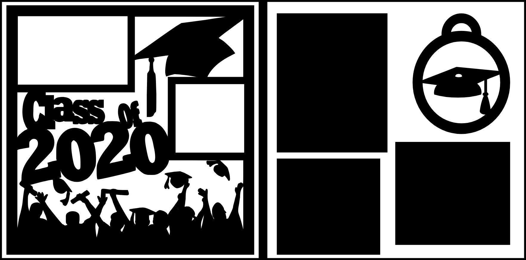 Class of 2020 graduation--  page kit