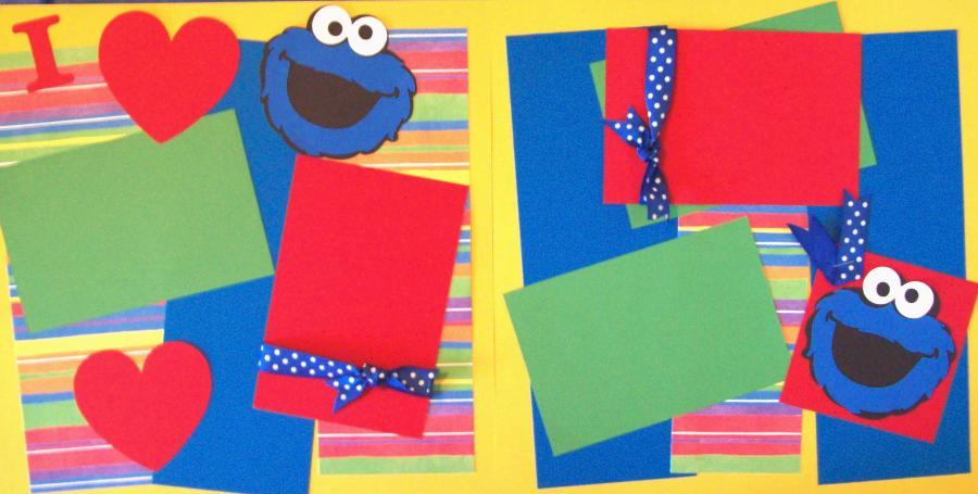 I LOVE COOKIE MONSTER  --   page kit