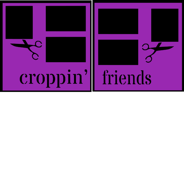 Croppin Friends (scrapbooking) --  page kit