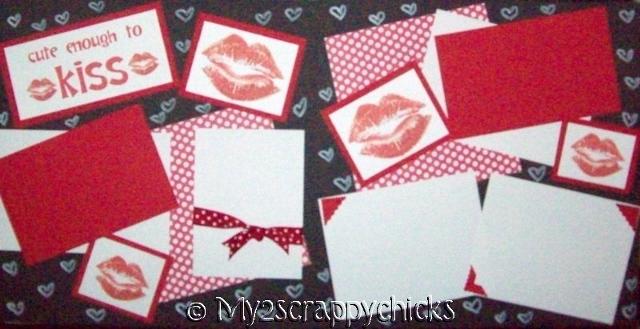 Cute Enough to Kiss   --   Page Kit