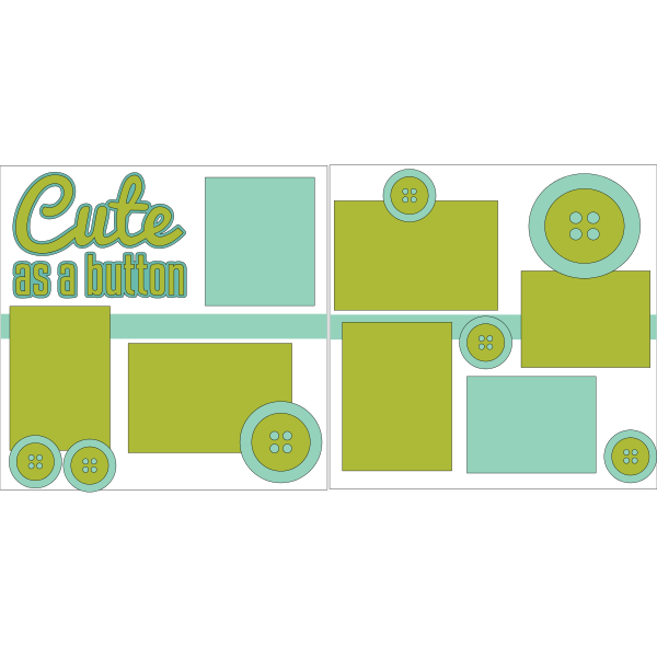 CUTE AS A BUTTON **  -basic page kit