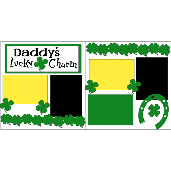 DADDY'S LUCKY CHARM +++  -basic page kit