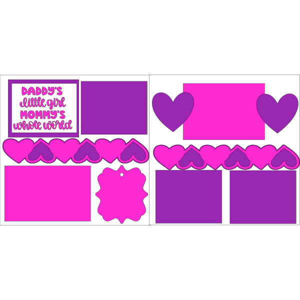 DADDY'S LITTLE GIRL MOMMYS WHOLE WORLD  -basic page kit