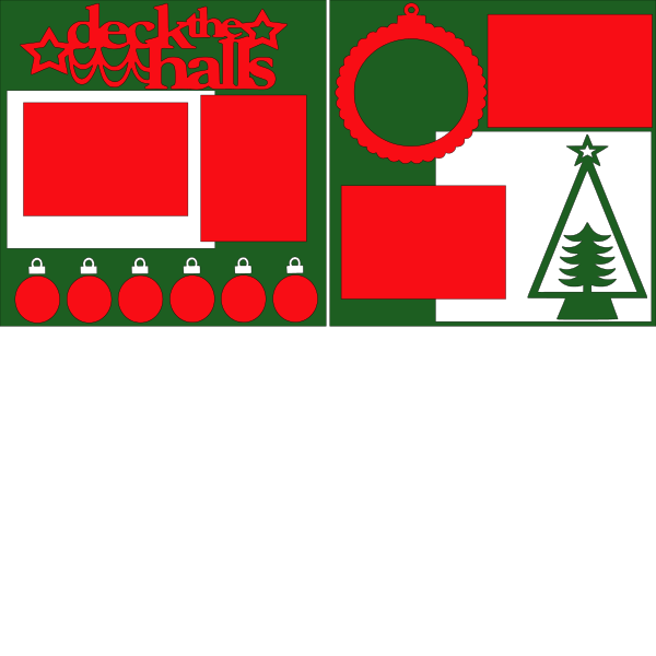 DECK THE HALLS (ORNAMENTS)   -basic page kit