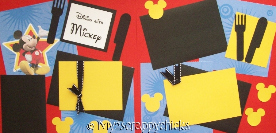Dining  with Mickey Disney  page kit