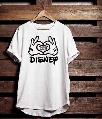 T-SHIRT DISNEY 2018 (HEART HANDS)