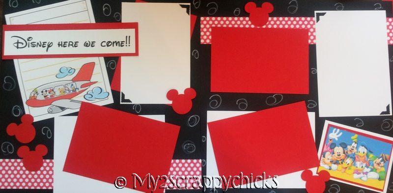 DISNEY HERE WE COME NEW page kit