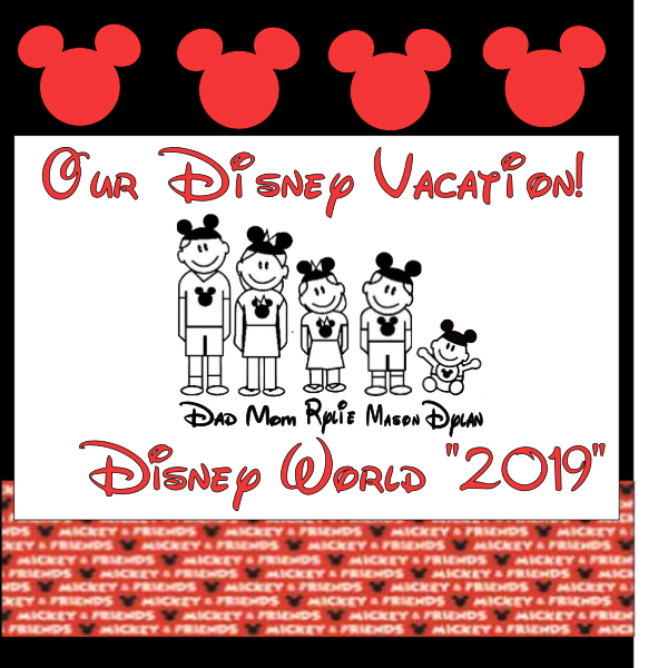 DISNEY FAMILY VACATION 1ST PERSONALIZED  Page Kit