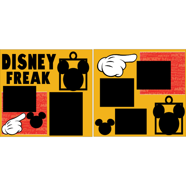 DISNEY FREAK  -basic page kit
