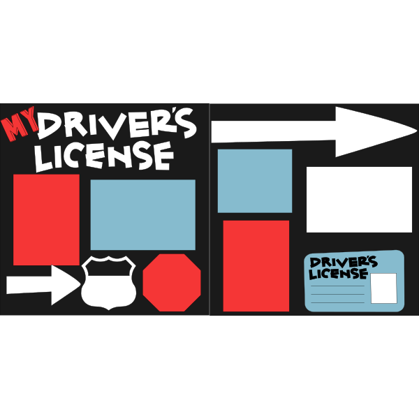 NEW DRIVER-MY DRIVERS LICENSE  -basic page kit