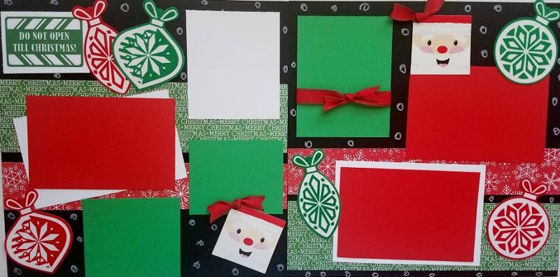 DO NOT OPEN TIL CHRISTMAS  *  Page kit