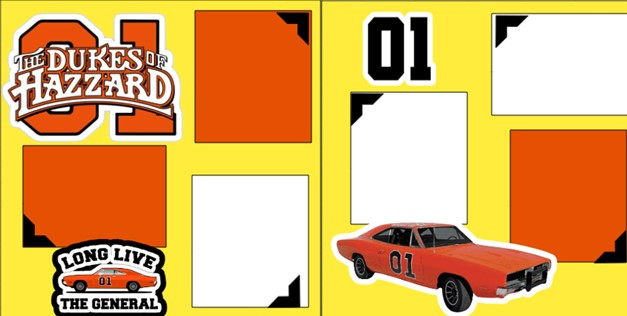 DUKES OF HAZARD (THE GENERAL LEE)    -  page kit