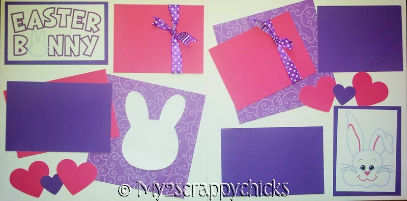 EASTER BUNNY PURPLE-  PAGE KIT