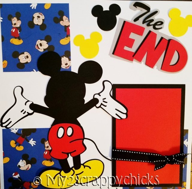 THE END.. DISNEY LAST PAGE 1 PAGE page kit