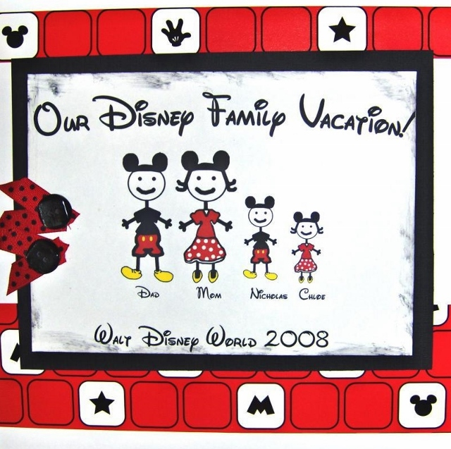 FAMILY DISNEY 1ST OR LAST PAGE