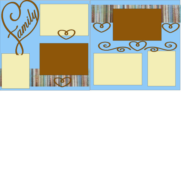 FAMILY(HEART FRAME) -basic page kit