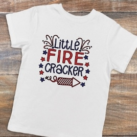 LITTLE FIRECRACKER CHILDS SHIRT OR ONESIE PERSONALIZE
