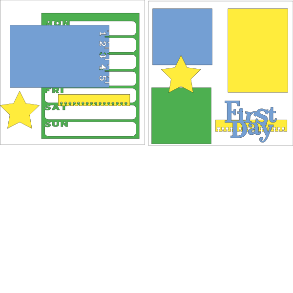 First Day of School --  page kit