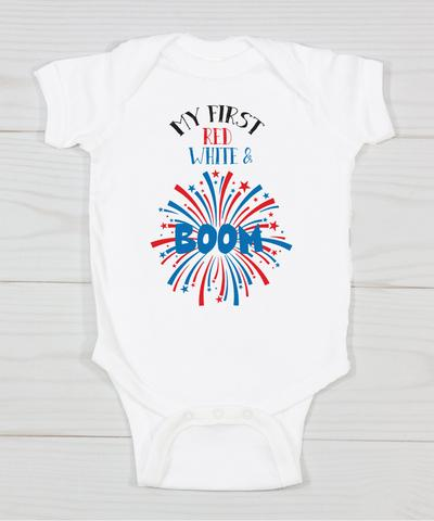 My First Red White & BOOM Bodysuit -WP