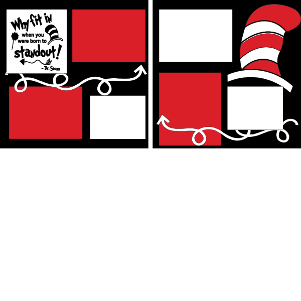 DR. SEUSS WHY FIT IN?-basic page kit