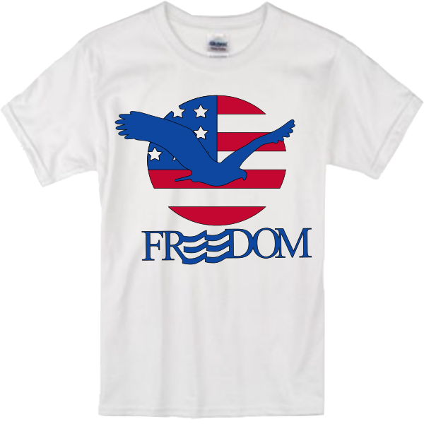 Freedom Eagle 4th of July TEE