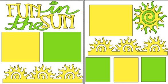 ***FUN IN THE SUN -  page kit