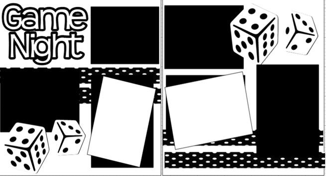 GAME NIGHT  page kit
