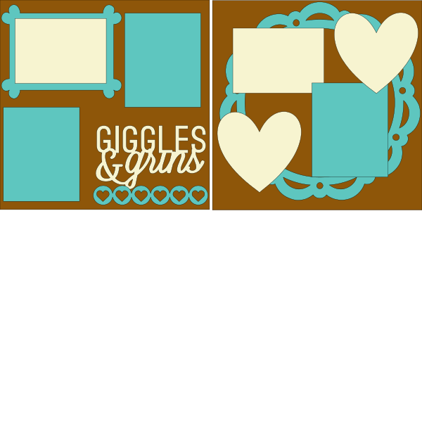 Giggles and Grins --  page kit
