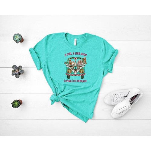 """""""A Girl And Her Dogs"""" TEE"""