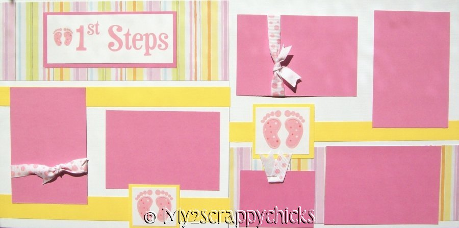 Baby's 1st Steps Girl (FEET)  - Page Kit