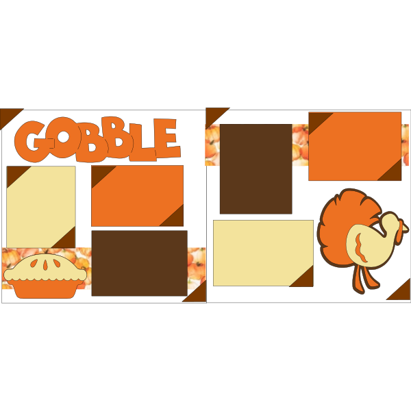 THANKSGIVING- GOBBLE  -basic page kit